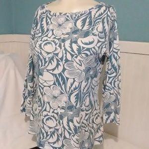 SALE Talbot's 3/4 Sleeve Shirt. Size Medium